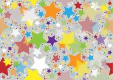 Texture colorée d'étoiles Photographie stock libre de droits