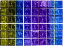 Texture colorée d'hublot en verre Image stock
