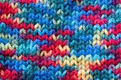 Texture colorée de chandail Photographie stock