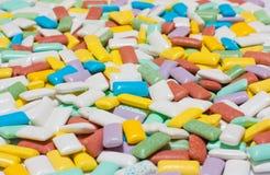 Texture colorée de chewing-gum Photos libres de droits