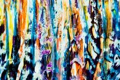 Texture colorée de peinture Photos libres de droits