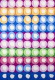 Texture colorée de tapis de cercles photographie stock