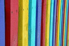 Texture colorée des lattes de la clôture en bois Image libre de droits