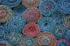Texture colorée industrielle de fond de maillon de chaîne Photographie stock libre de droits