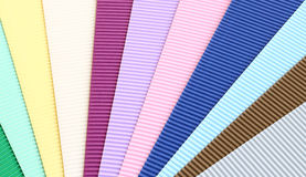 Texture of color corrugated paper Stock Photo