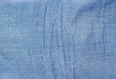 Texture of color jeans textile close up Stock Image