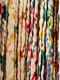 Natural fibers woven in various colors, background and texture. Texture and color in mexican craft objects royalty free stock images