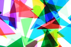 Texture from color plastic triangles Royalty Free Stock Photos