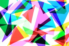 Texture from color plastic triangles Royalty Free Stock Images
