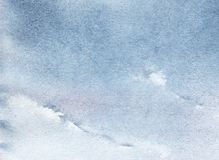 Abstract illustration of light sky. Texture of watercolor paper,. Texture of colored with blue watercolor paper. Abstract sky with clouds. Hand drawn real Stock Illustration