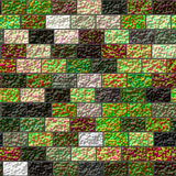 Texture of a colored brick wall Stock Image
