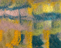 Texture colored felted fabric of dyed sheep's wool and viscose. Royalty Free Stock Images