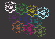Texture with colored hexagons Royalty Free Stock Images