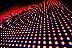Texture of colored LED lights. On a black background Royalty Free Stock Images