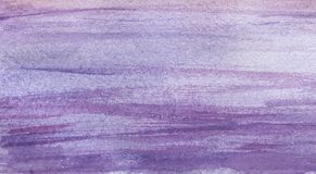 Texture of colored in light pastel lilac color paper. Hand drawn. Real watercolor illustration Stock Photo