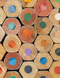 Texture of colored pencils. Close up stock images