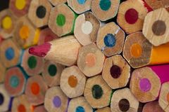 Texture of colored pencils Royalty Free Stock Photo