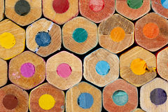 Texture of colored pencils. Close up royalty free stock photo