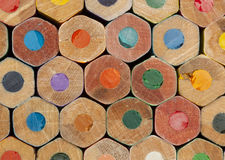 Texture of colored pencils Royalty Free Stock Photography
