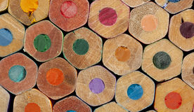 Texture of colored pencils. Close up royalty free stock images