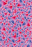 Texture of colored triangles Stock Photo