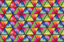 Texture of colored triangles watercolor Royalty Free Stock Images