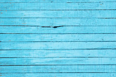 Texture of colored turquoise wooden fence Royalty Free Stock Image