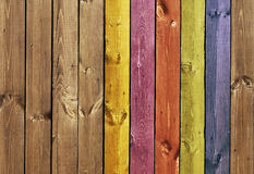 Texture - colored wooden boards Royalty Free Stock Images