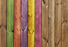 Texture - colored wooden boards Stock Photo