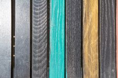 Texture from colored wooden slats Stock Photo