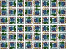 Texture with colorful artistic squares isolated royalty free illustration