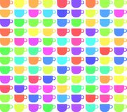 Texture of colorful cups isolated Stock Image