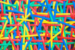 Texture of colorful plastic weave. Close up abstract image or texture of colorful plastic weave Royalty Free Stock Image