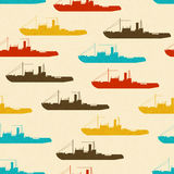 Texture with colorful ships Stock Images