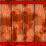 Texture of colorful wooden fence or floor. Brown, red, orange, rusty metal beam Royalty Free Stock Image