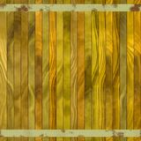Texture of colorful wooden fence or floor. Brown, red, orange, rusty metal beam Stock Photography