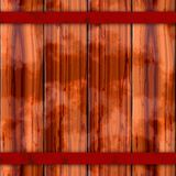 Texture of colorful wooden fence or floor. Brown, red, orange, rusty metal beam Stock Images