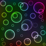 Texture of colour circles. Texture from shone multi-coloured circles Stock Photography