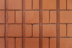 Texture concrète de fond de mur de briques de ciment Photographie stock libre de droits