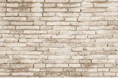 Texture concrète ou en pierre crème de mur de briques d'art de couleur et blanc Images libres de droits
