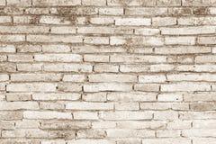Texture concrète ou en pierre crème de mur de briques d'art de couleur et blanc Photographie stock
