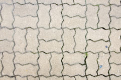 Texture of concrete block pavements Royalty Free Stock Images