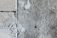 The texture of the concrete wall of foam blocks interface with stiff glue Stock Image