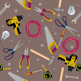 Texture construction tools flat illustration Royalty Free Stock Photos