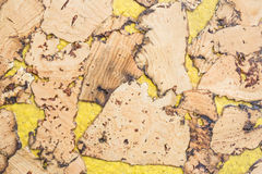 Texture of cork board wood surface, natural wooden decorative panel Royalty Free Stock Photo