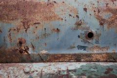 Texture corrodée par panneau de plaque métallique rouillé Images stock