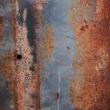 Texture corrodée par panneau de plaque métallique rouillé Image libre de droits