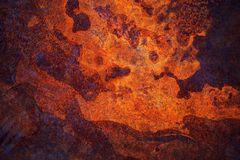 Texture of corroded metal plate surface Stock Photos