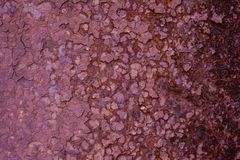 Texture corrosion of metal. Royalty Free Stock Image