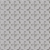 Texture of corrugated metal. Figure petals and stars. Hue metal silver. Vector illustration EPS10. Royalty Free Stock Photography